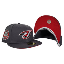 Load image into Gallery viewer, Dark Grey Toronto Blue Jays Red Bottom 30th Season Side Patch New Era 59Fifty Fitted