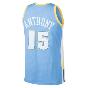 Denver Nuggets 2003-04 Carmelo Anthony Mitchell & Ness Light Blue Swingman Jersey