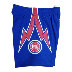 Detroit Pistons Mitchell & Ness Royal Blue Swingman Shorts