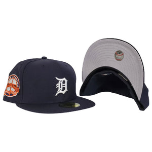 Detroit Tigers Stadium Side Patch Navy Blue New Era 59Fifty Fitted