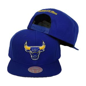 Exclusive Mitchell & Ness Rhinestone Chicago Bulls Royal Blue Snapback