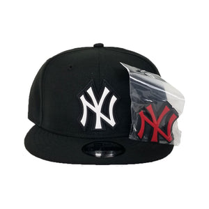 Exclusive New Era Black New York Yankees Changeable Logo 9Fifty Snapback