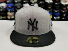 Load image into Gallery viewer, Exclusive New Era MLB Grey/ Black New York Yankee Black Metal Logo Fitted Hat