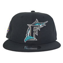 Load image into Gallery viewer, Florida Marlins Black 1997 World Series Side Patch New Era 9Fifty Snapback