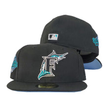 Load image into Gallery viewer, Florida Marlins Black Icy Blue 1997 World Series New Era 59Fifty Fitted Hat