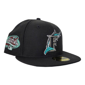 Florida Marlins Black Mint Green Bottom 100th Anniversary Patch New Era 59Fifty Fitted