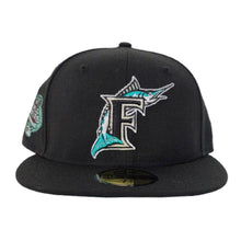 Load image into Gallery viewer, Florida Marlins Black Mint Green Bottom 100th Anniversary Patch New Era 59Fifty Fitted