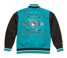 Load image into Gallery viewer, Florida Marlins Mitchell & Ness Men's MLB Team History Warm up Jacket