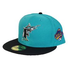 Load image into Gallery viewer, Florida Marlins Teal Black 1997 World Series Cooperstown New Era 59Fifty Fitted
