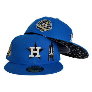 Glow In the Dark Cerulean Blue Houston Astros Star Bottom 45th Anniversary Side Patch New Era 59Fifty Fitted