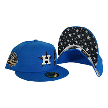 Load image into Gallery viewer, Glow In the Dark Cerulean Blue Houston Astros Star Bottom 45th Anniversary Side Patch New Era 59Fifty Fitted