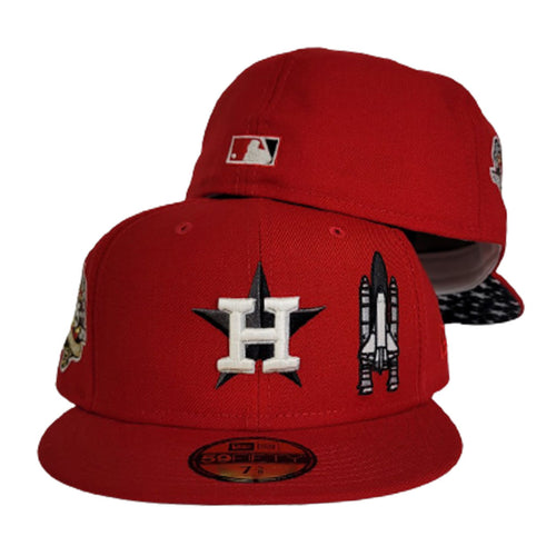 Glow In the Dark Red Houston Astros Star Bottom 45th Anniversary Side Patch New Era 59Fifty Fitted