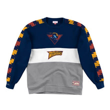 Load image into Gallery viewer, Golden State Warriors Mitchell & Ness Scorer Fleece Crew Sweatshirt