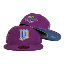 Load image into Gallery viewer, Grape Purple Minnesota Twins Icy Blue Bottom 1991 World Series Patch New Era 59Fifty Fitted