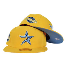 Load image into Gallery viewer, HOUSTON ASTROS TAXI YELLOW ICY BLUE BOTTOM 2005 WORLD SERIES NEW ERA 59FIFTY FITTED