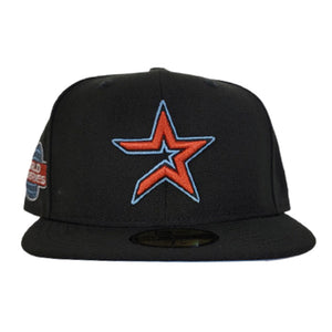 Houston Astros Black Icy Blue Bottom 2005 World Series New Era 59Fifty Fitted