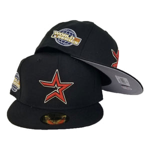 Houston Astros Cooperstown Black New Era 2005 World Series Side Patch 59Fifty Fitted
