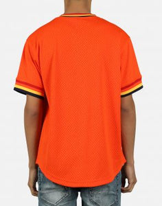 Houston Astros Mitchell & Ness Mesh V-Neck Orange Jersey