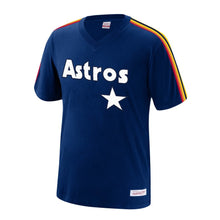 Load image into Gallery viewer, Houston Astros Mitchell & Ness Overtime Win V-Neck T-Shirt – Navy
