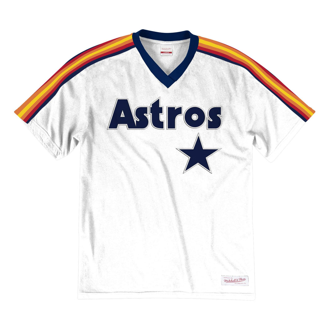 Houston Astros Mitchell & Ness Overtime Win V-Neck T-Shirt – White