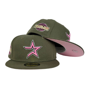 Houston Astros Olive Green Pink Bottom 2005 World Series New Era 59Fifty Fitted
