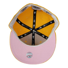 Load image into Gallery viewer, Houston Astros Taxi Yellow Pink Bottom 2005 World Series New Era 59Fifty Fitted
