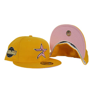 Houston Astros Taxi Yellow Pink Bottom 2005 World Series New Era 59Fifty Fitted