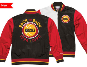 Houston Rockets Mitchell & Ness NBA Men's Team History Warm up Jacket
