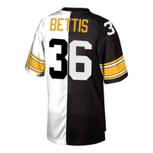 Load image into Gallery viewer, Jerome Bettis Pittsburgh Steelers Mitchell & Ness Retired Player Split Replica Jersey – Black/White