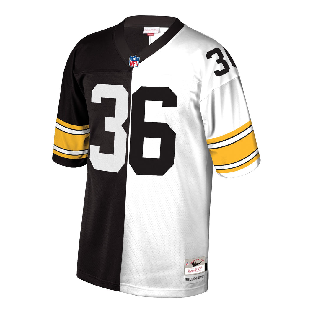Jerome Bettis Pittsburgh Steelers Mitchell & Ness Retired Player Split Replica Jersey – Black/White
