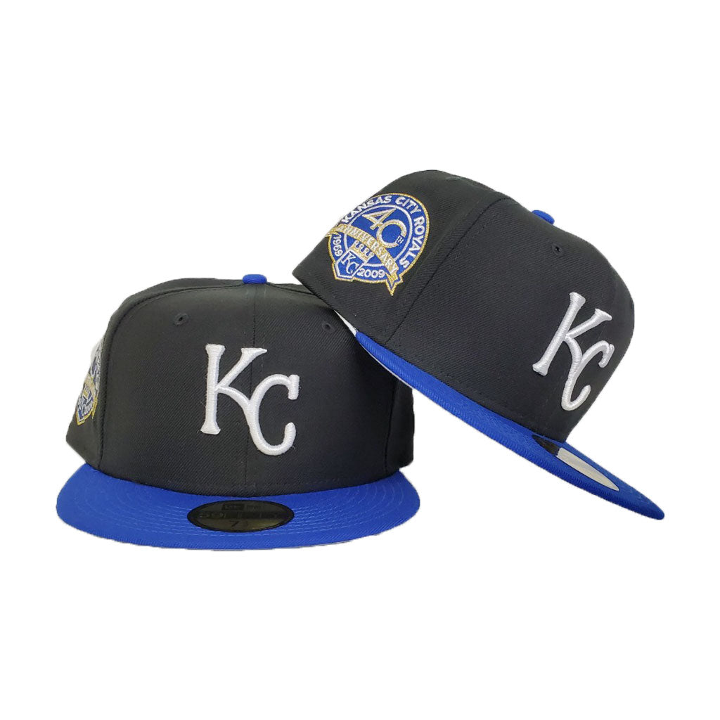 Kansas City Royals Black 40th Anniversary New Era 59Fifty Fitted Hat