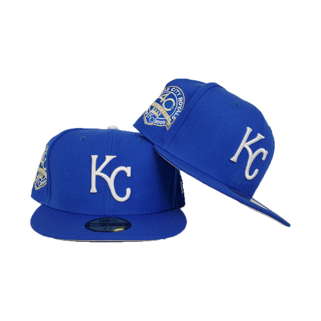 Kansas City Royals Light Royal Blue 40th Anniversary New Era 59Fifty Fitted