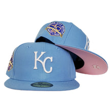 Load image into Gallery viewer, Kansas City Royals Sky Blue Pink Bottom 40th Anniversary New Era 59Fifty Fitted