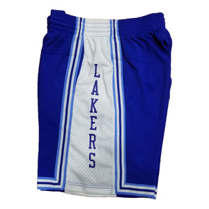 Light Blue Los Angeles Lakers Mitchell & Ness Hardeood Classic Men's Swingman Shorts