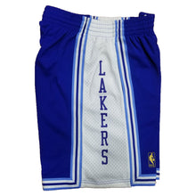 Load image into Gallery viewer, Light Blue Los Angeles Lakers Mitchell & Ness Hardeood Classic Men's Swingman Shorts