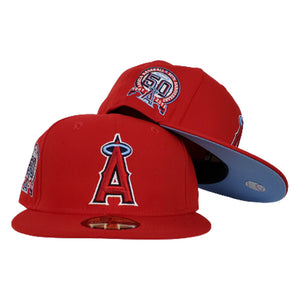Los Angeles Angels Red Icy Blue Bottom 50th Anniversary New Era 59Fifty Fitted