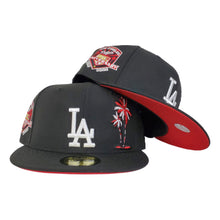 Load image into Gallery viewer, Los Angeles Dodgers Black Red Bottom 50th Anniversary PalmTree New Era 59Fifty Fitted