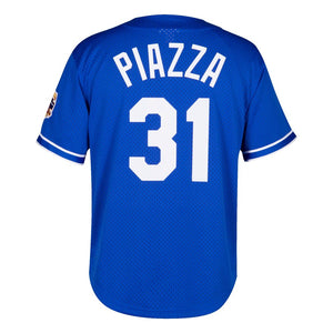 Los Angeles Dodgers Mike Piazza Mitchell & Ness Royal Cooperstown Collection Mesh Batting Practice Jersey