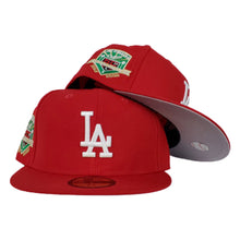 Load image into Gallery viewer, Los Angeles Dodgers Red Grey Bottom 50th Anniversary New Era 59Fifty Fitted