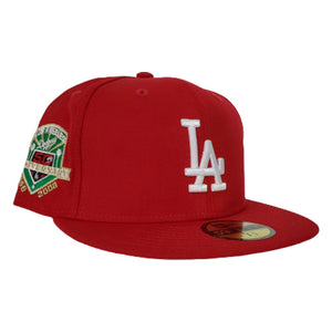 Los Angeles Dodgers Red Grey Bottom 50th Anniversary New Era 59Fifty Fitted