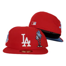Load image into Gallery viewer, Los Angeles Dodgers Red Icy Blue Bottom 50th Anniversary Palm Tree New Era 59Fifty Fitted