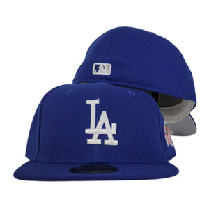 Los Angeles Dodgers Royal Blue Grey Bottom 1998 World Series New Era 59Fifty Fitted