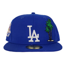 Load image into Gallery viewer, Los Angeles Dodgers Royal Pink Bottom 50th Anniversary Palm Tree New Era 59Fifty Fitted