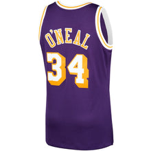 Load image into Gallery viewer, Los Angeles Lakers 1996-97 Shaquille O'Neal Mitchell & Ness Purple Swingman Jersey