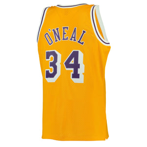 Los Angeles Lakers 1996-97 Shaquille O'Neal Mitchell & Ness Yellow Swingman Jersey