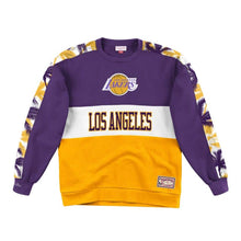 Load image into Gallery viewer, Los Angeles Lakers Mitchell & Ness Scorer Fleece Crew Sweatshirt