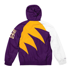 Los Angeles Lakers Mitchell & Ness Shark Tooth Full-Zip Jacket – Purple