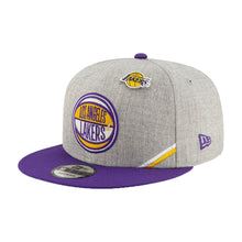 Load image into Gallery viewer, Los Angeles Lakers New Era Heather Gray 2019 NBA Draft 9FIFTY Snapback Adjustable Hat