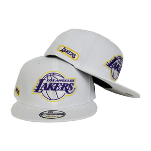 Los Angeles Lakers New Era Official White 9FIFTY Snapback Hat