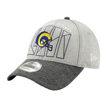 Load image into Gallery viewer, Los Angeles Rams New Era Heather Gray/Heather Charcoal Super Bowl LIII Bound Two-Tone 9FORTY Adjustable Hat
